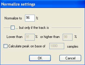 Normalization settings of All To MP3 Converter