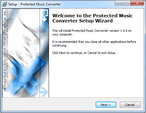 Convert protected WMA to MP3 with Protected Music Converter